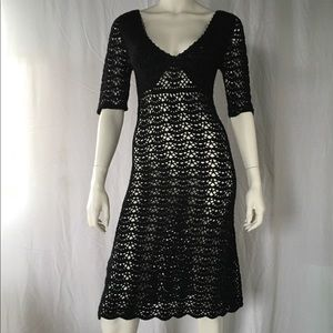 Dresses & Skirts - 1970 Crochet knit dress